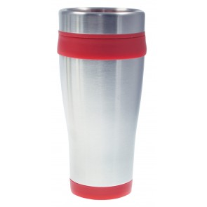 Coronado Tumblers | 16 oz - Silver with Red Liner