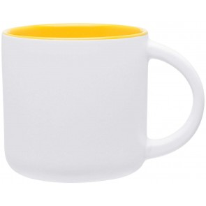 Minolo Mugs - Matte White | 14 oz - Yellow
