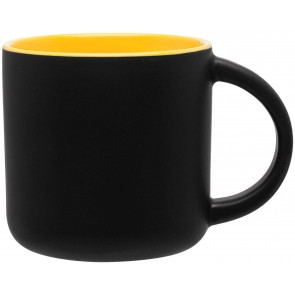 Minolo Mugs - Matte Black | 14 oz - Yellow