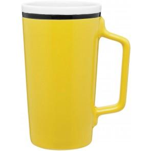 Tecla Ceramic Mugs | 18 oz - Yellow