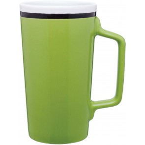 Tecla Ceramic Mugs   18 oz - Lime Green