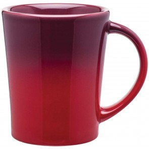 Emma Ombre Ceramic Mugs | 14 oz - Red