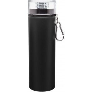 Black H2go Trek Aluminum Water Bottles Matte 28 Oz