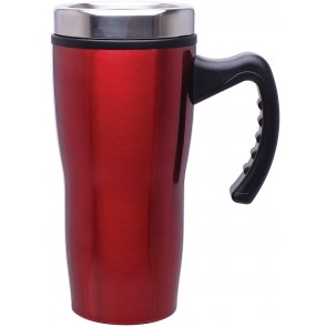 Double Wall Stainless Steel Stealth Mugs | 16 oz - Red