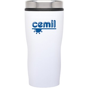 Double Wall Stainless Steel Stealth Tumblers | 16 oz - White