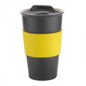 Java | 12 oz - Black with Yellow Gripper