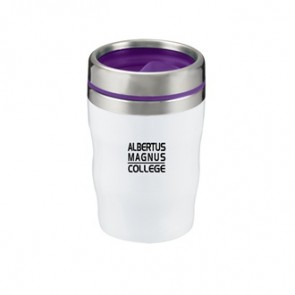 Levana | 12 oz - White with Purple Lid and Band