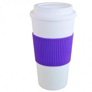 Brazilian | 16 oz - White with Purple Grip