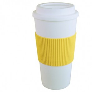 Brazilian | 16 oz - White with Yellow Grip