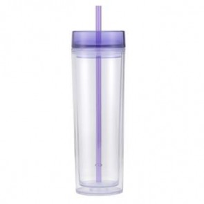 Pandora | 16 oz - Clear With Purple Lid