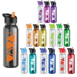 Personalized Water Bottles - The Outdoorsman - 24 oz. Tritan Water Bottles -Flip Strw Lid