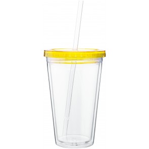 16 oz spirit tumbler with color lid-pineapple