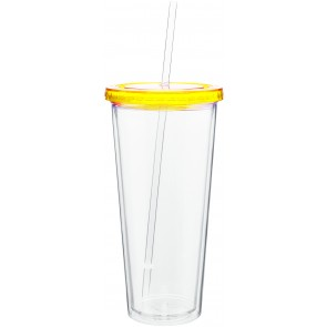 20 oz spirit tumbler with color lid-pineapple
