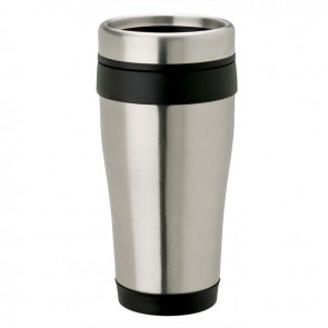 Stainless Steel Tumblers | 14 oz - Stainless Steel with Black Band
