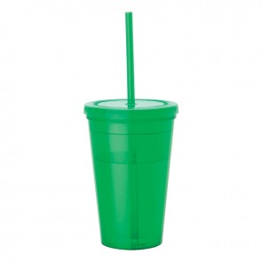 Tumblers & Straw | 16 oz - Green