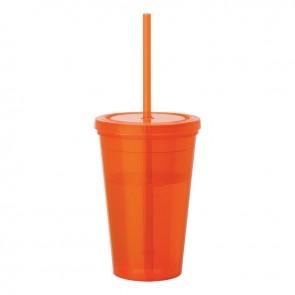 Tumblers & Straw   16 oz - Orange