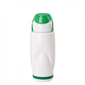 PP Water Bottles   22 oz - White Bottles with Green Flip Lid