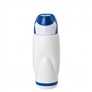 PP Water Bottles | 22 oz - White Bottles with Blue Flip Lid