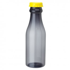 PP Water Bottles | 23 oz - Smoky Bottles with Yellow Bottles Cap