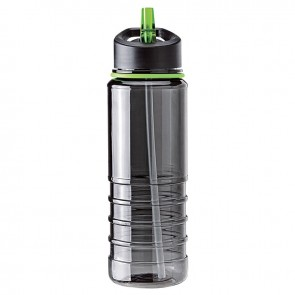 Tritan Water Bottles| 25 oz - Charcoal Bottles with Green Drinking Spout