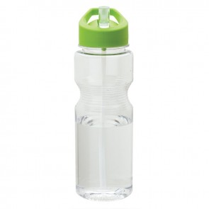 Tritan Water Bottles | 24 oz - Clear Bottles with Green Lid