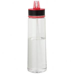 Tritan Water Bottles   30 oz - Clear Bottles with Red Spout