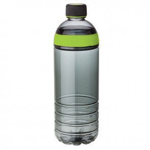 Tritan Water Bottles | 25 oz - Smoky Bottles with Lime Green Band