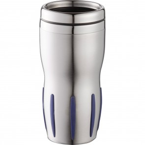 Tech Tumblers | 14 oz - Stainless Steel with Blue Rubber Grip