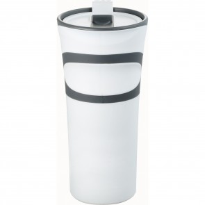 Groovy Double-Wall Tumblers | 18 oz - White