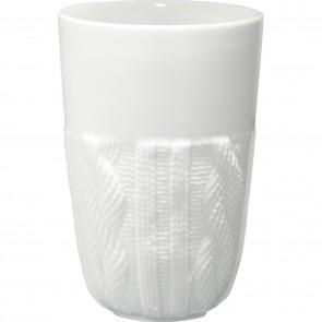 Cable Knit Ceramic Tumblers | 13 oz - White