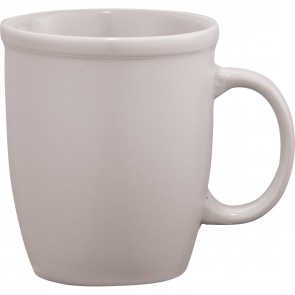 Cafe Au Lait Ceramic Mugs | 12 oz - White
