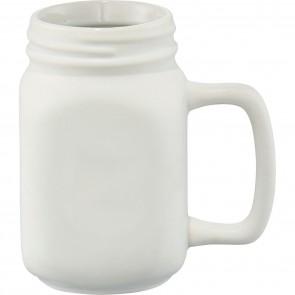 Ceramic Mason Jar | 16 oz - White