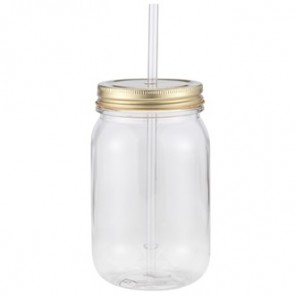 Classic Mason | 24 oz - Clear with Gold Lid