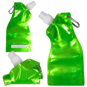 Curvy Flexi Water Pouch - Metallic Green