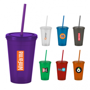 Wholesale Tumblers - The Pioneer - 16 oz. Insulated Straw Tumbler