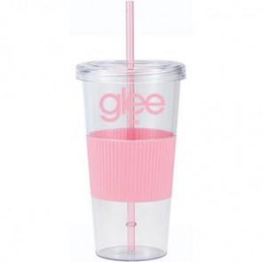 Burpy | 24 oz - Clear with Pink Grip