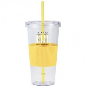 Burpy | 24 oz - Clear with Yellow Grip