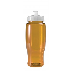 Poly-Pure - 27 oz. Transparent Bottles-Transparent--Yellow