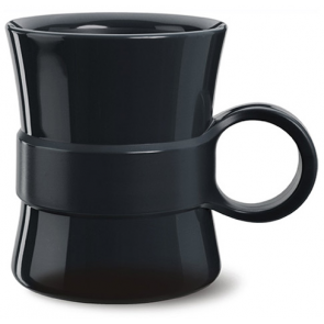 14 oz Loop BPA Free Plastic Mugs - Black