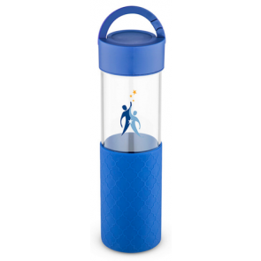 24 oz Mia Serenity Glass Water Bottles - Blue