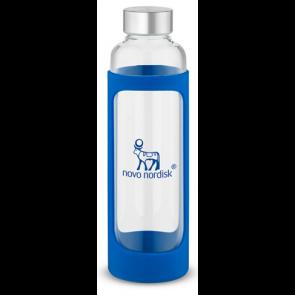20 oz Tioga Glass Water Bottles - Blue