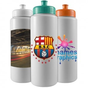 Personalized Sports Water Bottles - The Sports Quart - 32 oz Sports Bottle - Digital