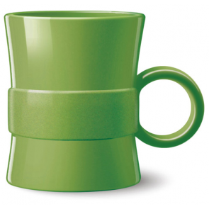 14 oz Loop BPA Free Plastic Mugs - Green