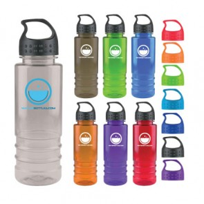 Personalized Water Bottles - Salute - 24 oz. Tritan Bottle-Crest Lid