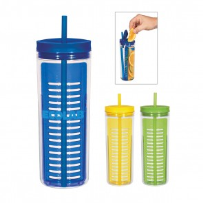 Infusion Infuser Bottles With Straw | 20 oz