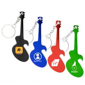 Promotional Bottle Openers - Guitar Bottle Opener Keychain