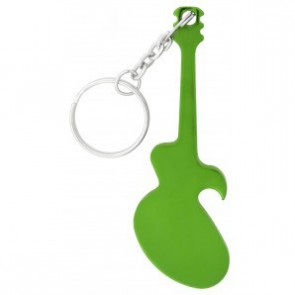 Guitar Bottle Opener Keychain-Green