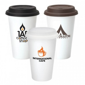 Branded Double Wall Ceramic Tumbler | 11 oz