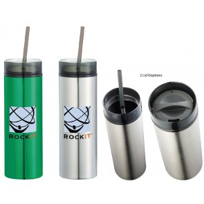 Hot and Cold Skinny Stainless Tumbler | 15 oz
