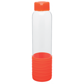 Orange 20 oz H2Go Oasis Glass Water Bottles